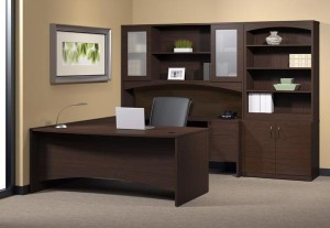 """Mocha """"U"""" Desk Suite"""