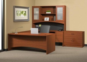 "Cherry ""U"" Desk Suite"