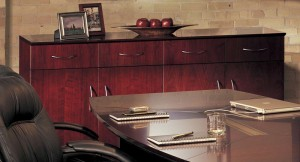 Executive Table Desk Credenza View