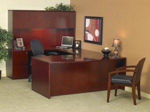 Luminary Series Executive Desk & Credenza with Hutch