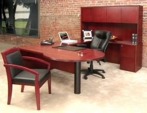 """P"" Top ""U"" Desk Hutch Suite"