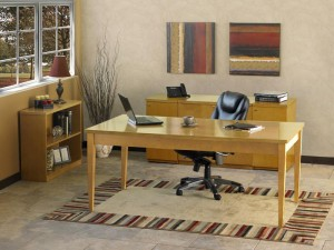 Luminary Collection Maple Table Desk Suite