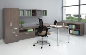"Wall Unit ""L"" with Table Desk"