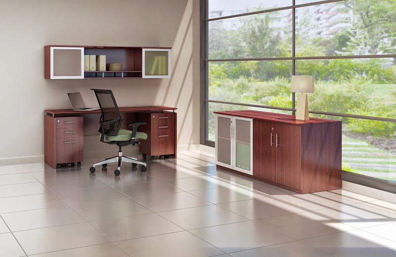 Medina Series Office Suite Mahogany Laminate