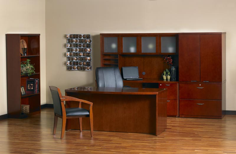 Mira Series Executive Desk and Credenza Suite