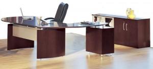 """Napoli """"L"""" Desk and Credenza"""