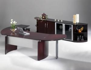 """""""L"""" Desk & Credenza"""