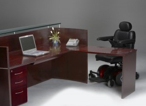 Reception Desk Handicapped Access