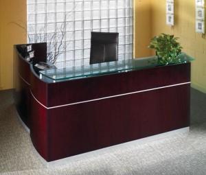 """Napoli Reception """"L"""" Desk"""