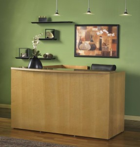 Mayline Office Furniture Luminary Series Reception Desk