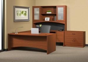 "Cherry ""U"" Desk Suite"