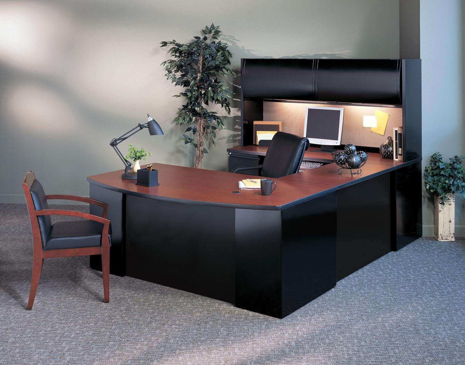 Csii Collection Bow Front U Desk