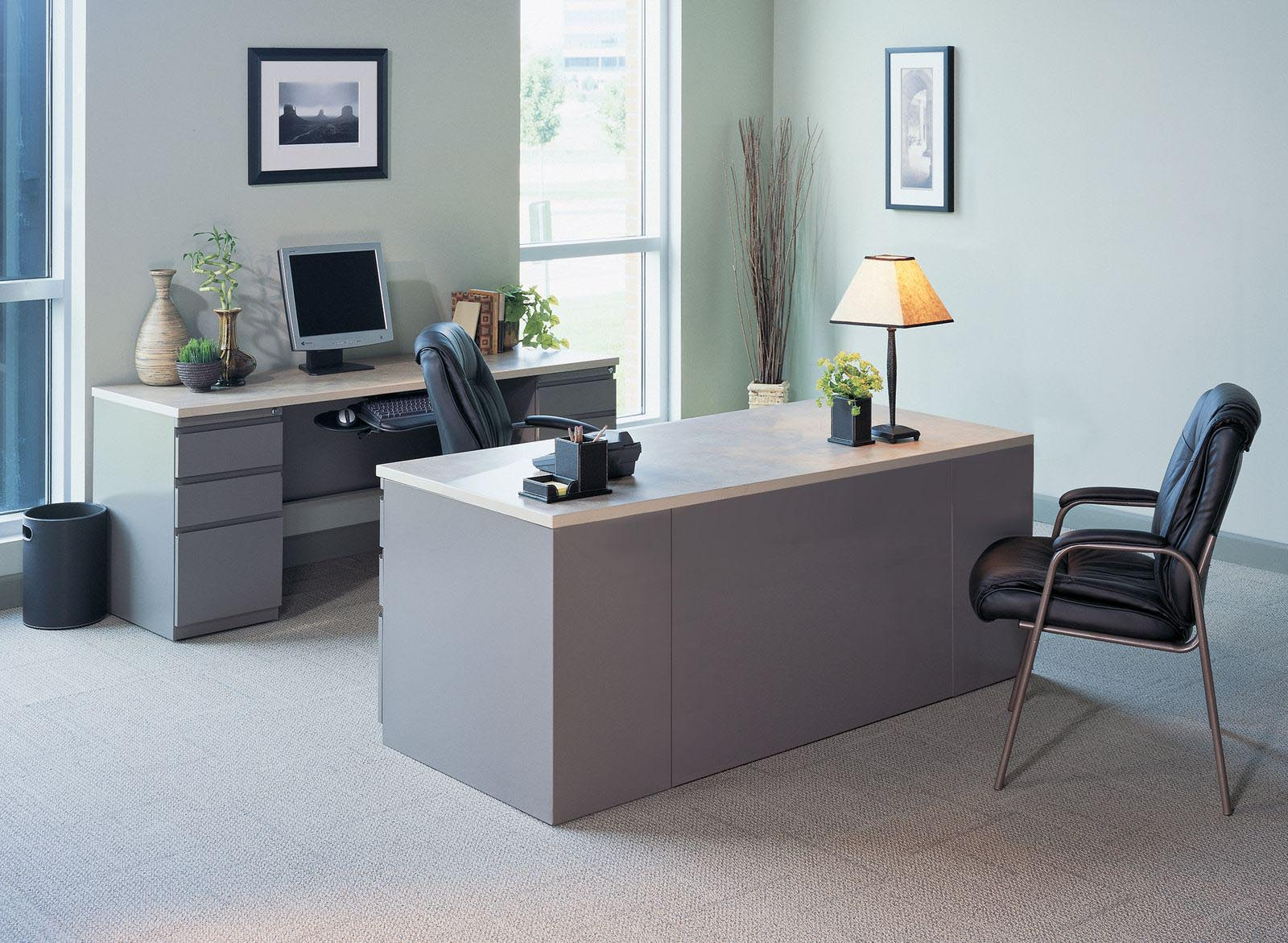 Desk And Credenza Suite