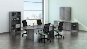 Medina Conference Room Gray Steel Laminate