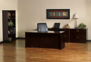 Executive Desk Credenza with Lateral File