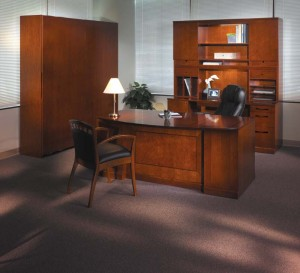 Executive Bow Front Desk Suite