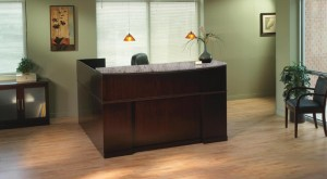 Mocha Reception Desk