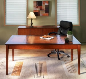 Table Desk with Credenza
